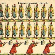 Coleccionismo Recortables: RECORTABLE DE SOLDADOS: EJERCITO MARROQUI, INFANTERIA (ED.PALUZIE NUM. 470). Lote 53265730