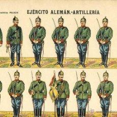 Coleccionismo Recortables: RECORTABLE DE SOLDADOS: EJERCITO ALEMAN, ARTILLERIA (ED.PALUZIE NUM. 448). Lote 53265837