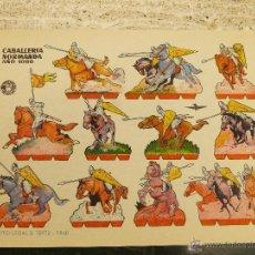 Coleccionismo Recortables: LAMINA RECORTABLE BRUGUERA, CABALLERIA NORMANDA 1000. Lote 53288721