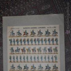 Coleccionismo Recortables: RECORTABLE DE LA ESTAMPERIA PALUZIE. EJERCITO ESPAÑOL. LANCEROS. Nº 261. AÑOS 40. Lote 53564548
