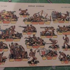 Coleccionismo Recortables: RECORTABLE, LA TIJERA, ARMAS LIGERAS.. Lote 53613501