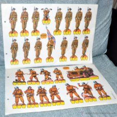 Coleccionismo Recortables: SERIE NARANJA - 7 HOJAS RECORTABLES SOLDADOS - EDITORIAL ROMA - AÑO 1983. Lote 53952478