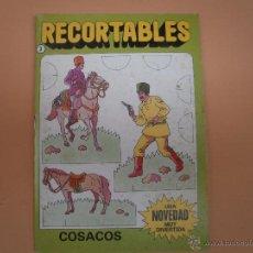 Coleccionismo Recortables: RECORTABLE DE BRUGUERA AÑOS 80 COSACOS. Lote 54020415