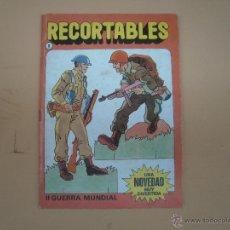 Coleccionismo Recortables: RECORTABLE DE LOS AÑOS 80 BRUGUERA TEMA II GUERRA MUNDIAL. Lote 54020487