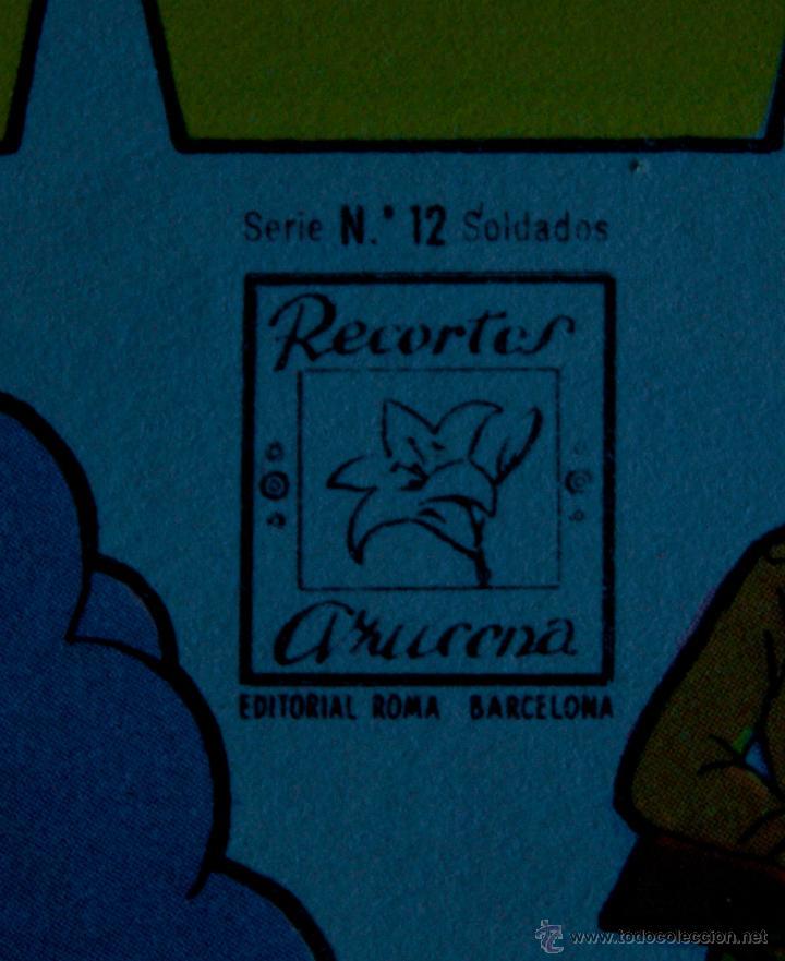 Coleccionismo Recortables: 15 LAMINAS RECORTABLES SOLDADOS AZUCENA (SERIE SOLDADOS 1 A 15) - Foto 6 - 54034986