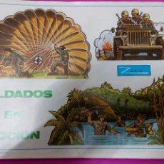 Coleccionismo Recortables: COLECCIÓN 10 LÁMINAS SOLDADOS EN ACCIÓN ZULIA. PERFECTO ESTADO.. Lote 54411670