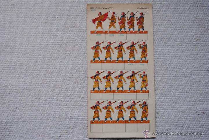 RECORTABLE REGULARES DE INFANTERIA PLIEGO Nº1 J.COLOMER-BARCELONA (Coleccionismo - Recortables - Soldados)