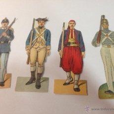 Coleccionismo Recortables: LOTE DE 4 SOLDADOS, CORTABLE ANTIGUO. PRINCIPIOS DEL XX. Lote 54867883