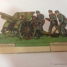 Coleccionismo Recortables: RECORDABLE ALEMÁN. ARTILLERÍA. FELDARTILLERIE IN FEUERSTELLUNG. RECORTABLE DE ÉPOCA.. Lote 54868061