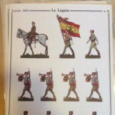 Coleccionismo Recortables: LA LEGION. ESPAÑA 1936. Nº 19. DELFÍN SALAS. Lote 54907675