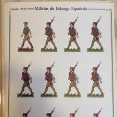 Coleccionismo Recortables: MILICIAS DE FALANGE. ESPAÑA 1936. Nº 22. DELFIN SALAS. Lote 54907723