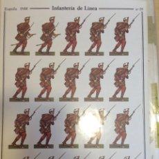 Coleccionismo Recortables: INFANTERIA DE LINEA. GUERRA DE AFRICA. Nº28. DELFIN SALAS. Lote 54907806