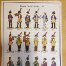 Coleccionismo Recortables: EL EJERCITO ESPAÑOL DE 1808. LAMINA 3. . Lote 54918028