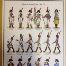 Coleccionismo Recortables: EL EJERCITO ESPAÑOL DE 1808. LAMINA 2. . Lote 54918059