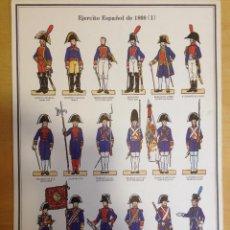 Coleccionismo Recortables: EL EJERCITO ESPAÑOL DE 1808. LAMINA 1.. Lote 54918066