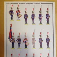 Coleccionismo Recortables: ARTILLERÍA. COMPAÑIA A CABALLO. ESPAÑA 1808. C. MEDINA.. Lote 54918097