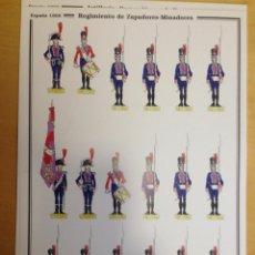 Coleccionismo Recortables: REGIMIENTO DE ZAPADORES-MINADORES. ESPAÑA 1808. C. MEDINA.. Lote 54918112