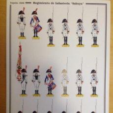 Coleccionismo Recortables: REGIMIENTO DE INFANTERIA SABOYA. ESPAÑA 1808. C. MEDINA. Lote 54918116