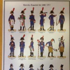Coleccionismo Recortables: EJERCITO ESPAÑO DE 1808. LAMINA 4.. Lote 54918206