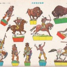 Coleccionismo Recortables: RECORTABLE: RECORTABLES: INDIOS. RECORTABLES EVA. MEDIDAS 22,5 X 30 CMS. AÑO 1965. CARTULINA. Lote 86272182