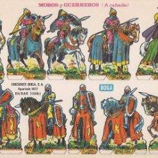 Coleccionismo Recortables: RECORTABLE, MOROS Y GUERREROS (A CABALLO). EDICIONES BOGA F. MEDIDAS 21 X 31 CMS.. Lote 79985357