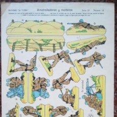 Coleccionismo Recortables: EDICIONES LATIJERA. AMETRALLADORAS Y MORTEROS. SERIE 10 Nº 11. 23 X 33 CMS. . VELL I BELL. Lote 55996890