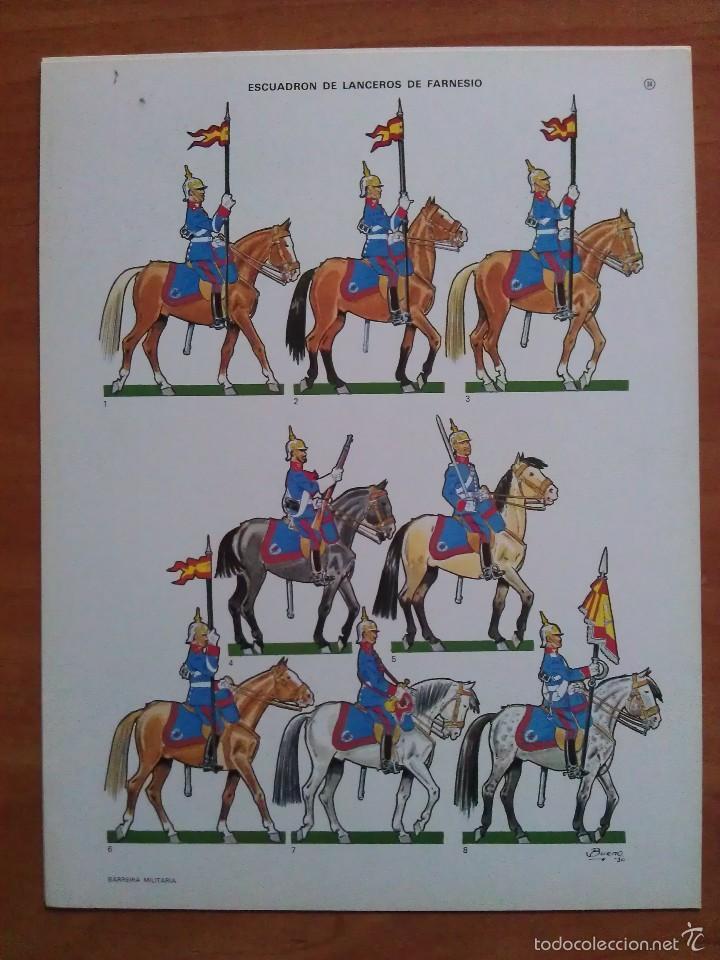 RECORTABLE SOLDADOS - 1939 DESFILE DE LA VICTORIA - ESCUADRÓN DE LANCEROS DE FARNESIO - GUERRA CIVÍL (Coleccionismo - Recortables - Soldados)