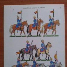 Coleccionismo Recortables: RECORTABLE SOLDADOS - 1939 DESFILE DE LA VICTORIA - ESCUADRÓN DE LANCEROS DE FARNESIO - GUERRA CIVÍL. Lote 160730494