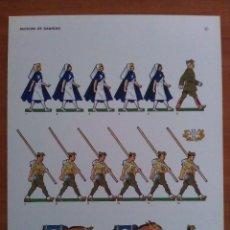 Coleccionismo Recortables: RECORTABLE SOLDADOS 1939 DESFILE DE LA VICTORIA - SECCIÓN DE SANIDAD- GUERRA CIVÍL. Lote 192929155
