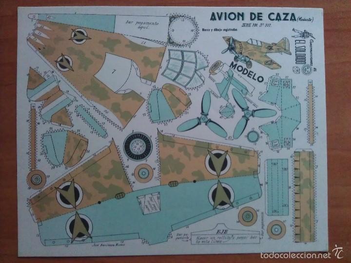 RECORTABLE AVIÓN DE CAZA - SERIE 200 Nº 202 - EL SOLDADO (Coleccionismo - Recortables - Soldados)
