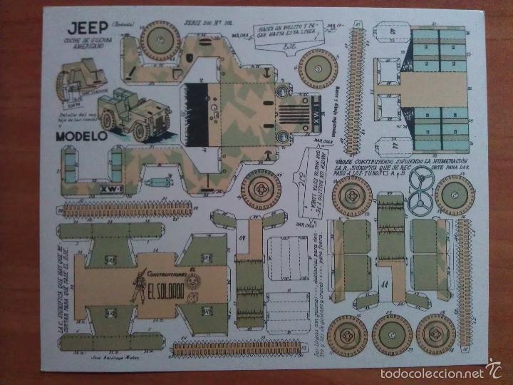 JEEP DE GUERRA AMERICANO- SERIE 200 Nº 201 - EL SOLDADO (Coleccionismo - Recortables - Soldados)