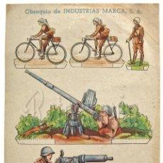 Coleccionismo Recortables: RECORTABLE PUBLICIDAD TINTES IBERIA NORIT DDT ORION INDUSTRIAS MARCA: SOLDADOS. Lote 57043122