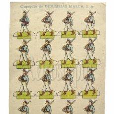 Coleccionismo Recortables: RECORTABLE PUBLICIDAD TINTES IBERIA NORIT DDT ORION INDUSTRIAS MARCA: SOLDADOS INFANTERIA DE MARINA. Lote 57043551