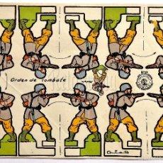 Coleccionismo Recortables: LAMINA RECORTABLE SERIE SOLDADOS Nº 19 *ORDEN DE COMBATE* RECORTES ROSITA ED. ROMA. ILUSTRADOR NIETO. Lote 57047909
