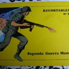 Coleccionismo Recortables: RECORTABLES SOLDADOS SEGUNDA GUERRA MUNDIAL CREACIONES SOL COMPLETA. Lote 57284868
