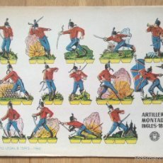 Coleccionismo Recortables: ARTILLERO MONTADO INGLES -RECORTABLES BRUGUERA. Lote 57377480