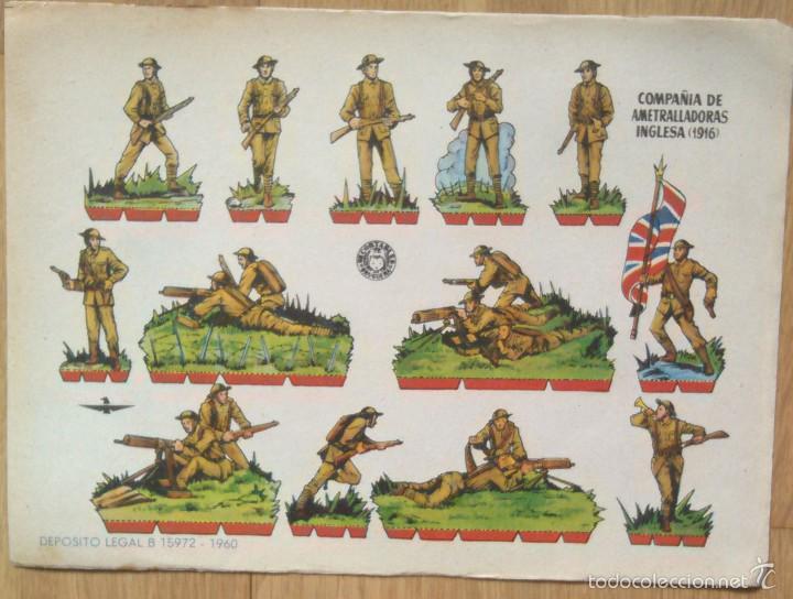 COMPAÑIA DE AMETRALLADORA INGLESA - RECORTABLES BRUGUERA (Coleccionismo - Recortables - Soldados)