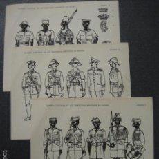Coleccionismo Recortables: GUARDA COLONIAL GUINEA ESPAÑOLA - EDITADO AÑO 1961 - 3 LAMINAS -MINIATURISTAS MILITARES- (V-6109). Lote 57432432