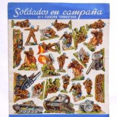 Coleccionismo Recortables: CUADERNO DE LÁMINAS RECORTABLES SOLDADOS EN CAMPAÑA Nº 1 FUERZAS TERRESTRES EDITORIAL ROMA AÑOS 60. Lote 57714705