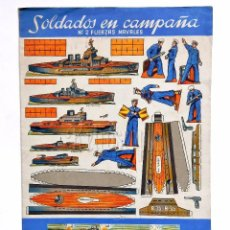 Coleccionismo Recortables: CUADERNO DE LÁMINAS RECORTABLES SOLDADOS EN CAMPAÑA Nº 2 FUERZAS NAVALES EDITORIAL ROMA AÑOS 60. Lote 57714779