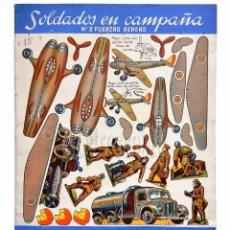 Coleccionismo Recortables: CUADERNO DE LÁMINAS RECORTABLES SOLDADOS EN CAMPAÑA Nº 3 FUERZAS AEREAS EDITORIAL ROMA AÑOS 60. Lote 57714806