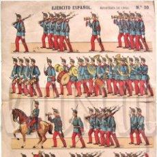 Coleccionismo Recortables: LAMINA RECORTABLE SOLDADOS. EJERCITO ESPAÑOL INFANTERIA DE LINEA Nº 50 PALUZIE AÑOS 30 - 40. Lote 57768881