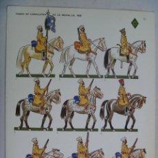 Coleccionismo Recortables: DESFILE VICTORIA : TABOR DE CABALLERIA DE LA MEHAL-LA .. LAMINA DE JOSE Mª BUENO , BARREIRA.. Lote 58343126