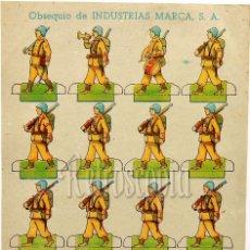 Coleccionismo Recortables: RECORTABLE PUBLICIDAD TINTES IBERIA NORIT DDT ORION INDUSTRIAS MARCA: SOLDADOS . Lote 58600415