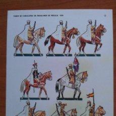 Coleccionismo Recortables: RECORTABLE SOLDADOS : TABOR DE CABALLERÍA DE REGULARES DE MELILLA 1939. Lote 160661088