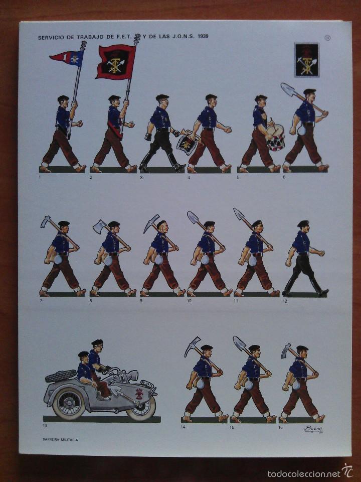 RECORTABLE SOLDADOS: SERVICIO DE TRABAJO DE F.E.T. Y DE LAS J.O.N.S. 1939 (Coleccionismo - Recortables - Soldados)