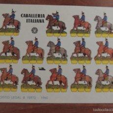 Coleccionismo Recortables: RECORTABLE BRUGUERA DE LA CABALLERIA ITALIANA. Lote 59686763