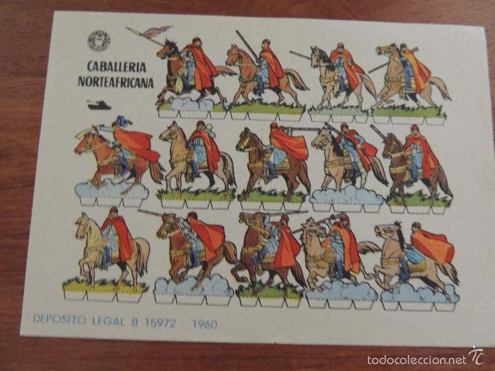 RECORTABLE BRUGUERA CABALLERIA NORTEAFRICANA (Coleccionismo - Recortables - Soldados)