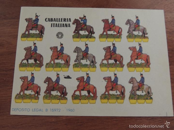 RECORTABLE BRUGUERA, CABALLERIA ITALIANA (Coleccionismo - Recortables - Soldados)
