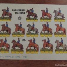 Coleccionismo Recortables: RECORTABLE BRUGUERA, CABALLERIA ITALIANA. Lote 59689579